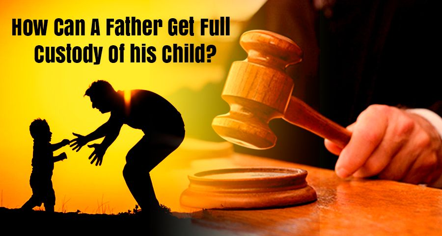 Father playing with his son after court order